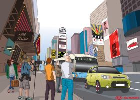 Advertorial illustration for Kia SOUL by animabase