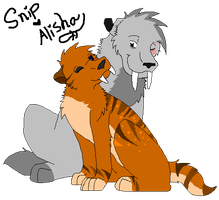 Snip and his new GF Alisha by boxes-of-foxxes