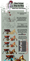 How I draw: Torch Hounds -Step-by-Step- by TurrKoise