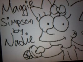 Maggie Simpson by Kandyfloss30a