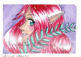 Lady Fern ACEO by SeraphimFeathers