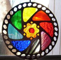 stained glass bike gear 1 by CindyCrowell