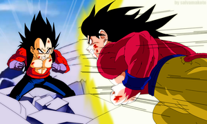 vegeta vs goku by salvamakoto