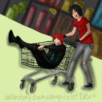 Supermarket Race by IWantMyOwnVampire