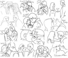 Valentine's Day sketchdump by HappInesFactory