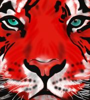 Red Tiger by Lovelyruthie