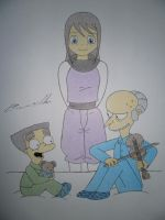Mr Burns,Smithers and Tsukimi by Alicetiger