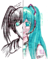 Mixed Media: BRS and Miku - Edited Ver by DaiikonRadish