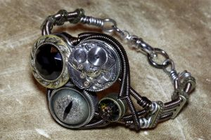 Steampunk Bracelet Steam Punk by CatherinetteRings