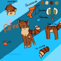 Arine Reference +New Fursona+ by dixiestickz