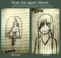 Draw this again meme by easterlil