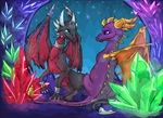 Spyro and Cynder by Bluepisces97