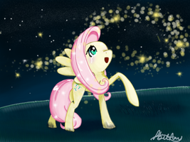 Fluttershy: the fireflies by 8BitAmy