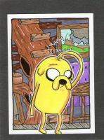 Jake the Dog In Da House sketch card by johnnyism