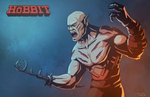 The Hobbit - Azog the Defiler by swadeart