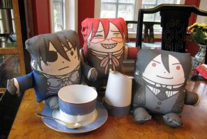 Black Butler Plushies by amasugiru