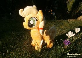 Little Applejack Chibi Plushie by HipsterOwlet