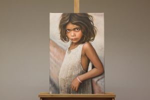 Nepal Child Oil Painting by Oil-Gallery
