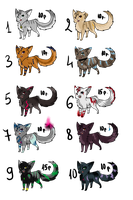 Feline Point Adoptables #1 by MayLyAdopts