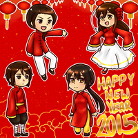 Happy new year 2015 by KyubeyLovesYou