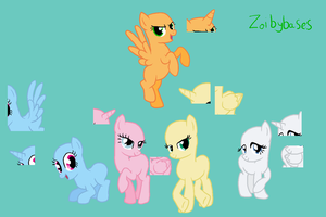 MLP base 3: Mane 5 by ZoibyBases