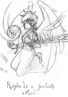 Jealous angel - pencil work by ancode