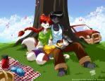 Family Picnic by ChaloDillo