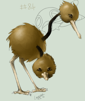 084 Doduo by D-Kitsune