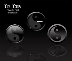 Yin Yang clock set by victor1410