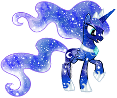 Galaxy Rainbow Power Luna by DigiRadiance