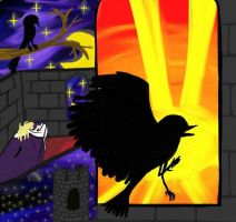 A Blackbird and a Sunrise by a-moment-at-midnight