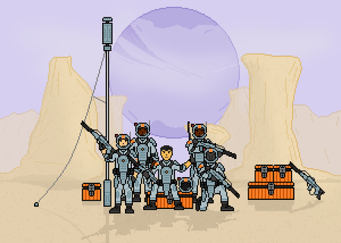 Troops on an Alien World by THEICYICY