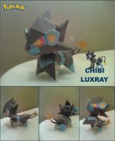 Chibi Luxray Papercraft Finished by rubenimus21