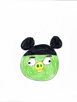 Green Pigs in Mickey's Hat by DisneyDude-94