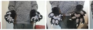 Handpaws with 'Puffy' Paw-Pads by CuriousCreatures