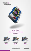 transformers soundwave iconset by jamespeng