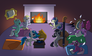 MLP Request: Sleepover by white-tigress-12158
