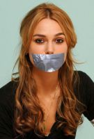 Keira Knightley tape gagged by ikell