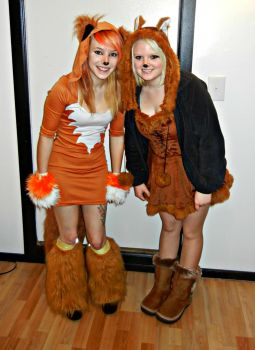 Our Fox Costumes by KittiKristy