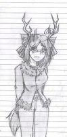 Me on line paper by BloodDeathSama