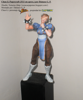 Chun-Li papercraft por Damaso by Dam0012
