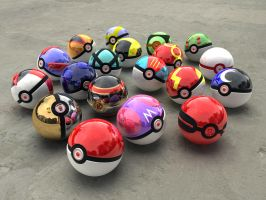 Pokeballs yet more models by BionicleGahlok