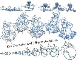 Rough Key Animation from Spaced Out Advertisement by Animator-who-Draws