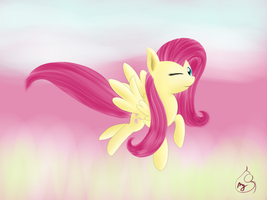 Pony Art Challenge: Day 3, Fluttershoi by Silverwindpegasus