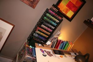 markers and pencils by chapstyle