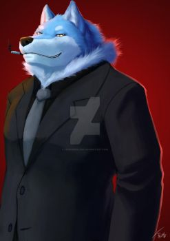 Suit and Tie (Commission) by Fenrirwolfen