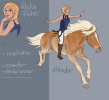 CharDesign Comission - Reka and Kolostor by abosz007