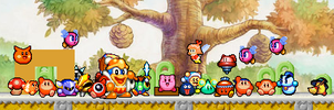 Kirby's 20th Anniversary SPRITE VERSION by mrmenworld2010