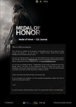 Medal of Honor -- Journal CSS by Nicasus