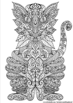 Ornate Cat Colouring Page by WelshPixie